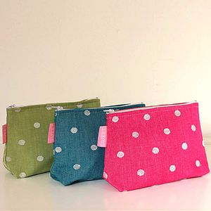 Dotty Cosmetic Bag - make-up & wash bags