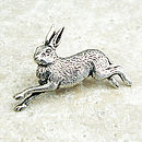 Wild Hare Tie Pin Antiqued Pewter