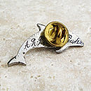Dolphin Tie Pin Antiqued Pewter