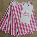 50 Pink Striped Paper Candy Sweet Bags
