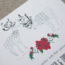 Wintry Reindeer Wedding Stationery