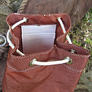 Vintage Tan Sailcloth Duffel Bag