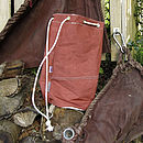Vintage Tan Sailcloth Duffel Bag