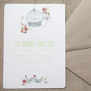 Free As A Bird Wedding Stationery - invitations