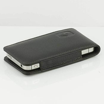 Espresso leather iPhone case