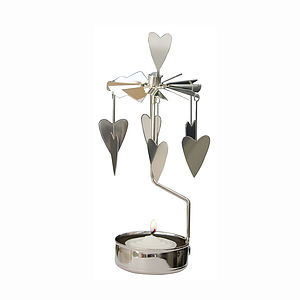 Hearts Rotary Candle Holder - candles & candlesticks
