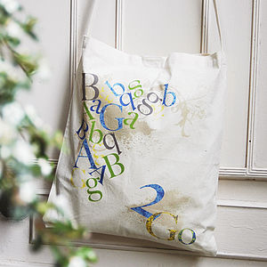 Alphabet And Number Tote Bag