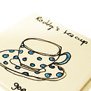 Coaster with Blue Polka Dots