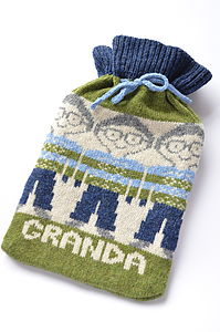 Men's Fairisle Hot Water Bottle Cover