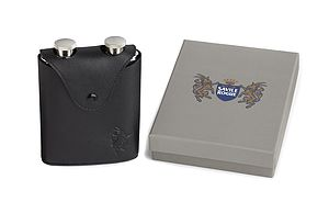Away Day Hip Flask Set Two Slimline Flasks
