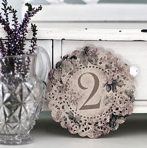 Vintage Style Wedding Table Numbers - decorative accessories