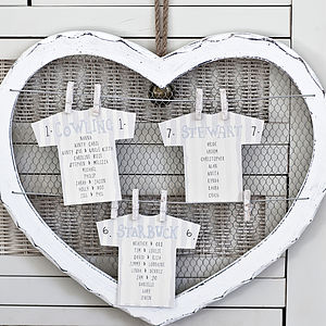 Wedding Seating Plan Cards - table plans