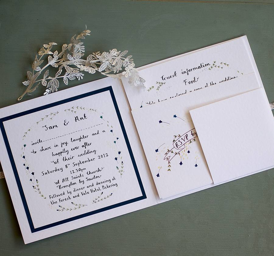 Ordinaire Personalised Fairytale Wedding Invitation