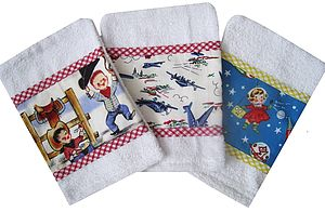 Set Of Three Wash Mits - baby care