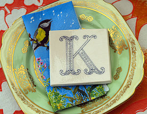 Monogram Tile - outdoor decorations