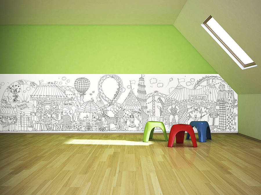 Colour In Wallpaper By Funwall