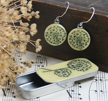 Allium Sixpence Earrings And Teeny Tiny Tin