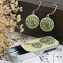 Allium Sixpence Earrings And Teeny Tiny Tin