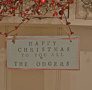 Happy Christmas Personalised Sign - garlands, bunting & hanging decorations