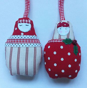 Pair Of Babushka Decorations