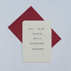 Divorce Card - freshly single