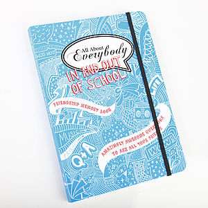 'All About Everybody In And Out Of School' Memory Book - gifts for teenage girls
