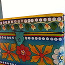 Hand Painted Wooden Storage Box