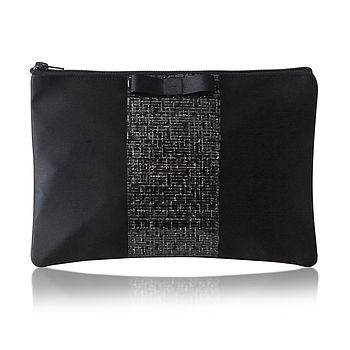 Erin Sparkle Satin Clutch