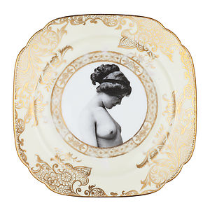 Upcycled Girl Design Vintage Side Plate - tableware