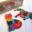 Wooden Flower Pot Number Jigsaw