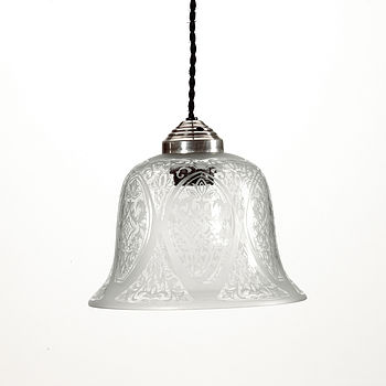 Decorative Glass Hanging Lamp By Nordal