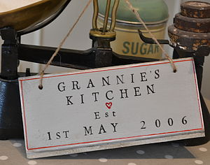 Personalised 'Grannie's Kitchen' Sign - decorative accessories