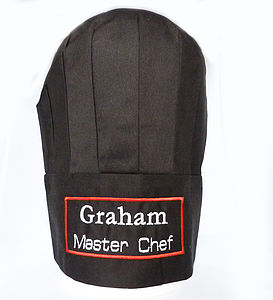 Personalised Chef's Hat - kitchen linen
