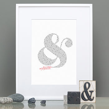Perfect Pairs Ampersand black and red