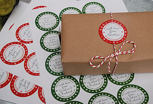 15 Personalised Christmas Stickers
