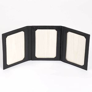 Leather Triple Photo Frame - picture frames