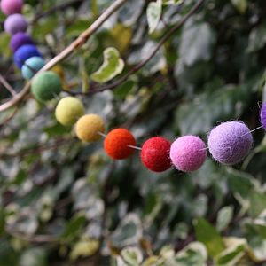 Rainbow Felt Ball Decorative Garland - party bunting