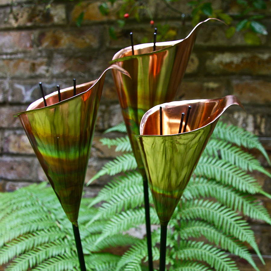 copper lily garden sculptures by london garden trading