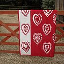 Red Hearts on Gate