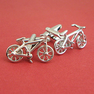 Bicycle Cufflinks - jewellery for him