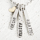 Personalised Necklace With Gold Heart Drop