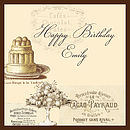 French Style Vintage Cafe Birthday Card