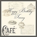 Cafe Birthday Card