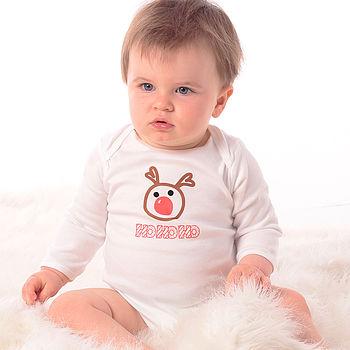 Reindeer - Christmas Baby Grow