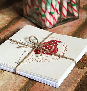 Pack Of Eight Christmas Cards By Alex - cards & wrap