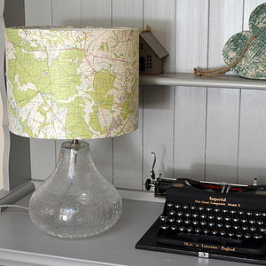Bespoke Map Lampshade Choose The Location - lighting