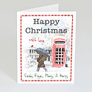 Pack Of Personalised Christmas PhoneBox Cards