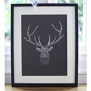 Stag's Head Art Print