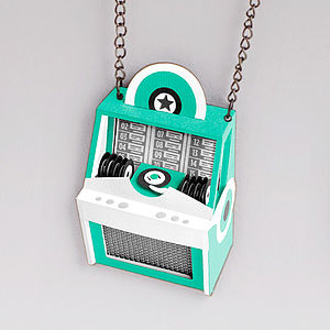 Vintage Jukebox Necklace