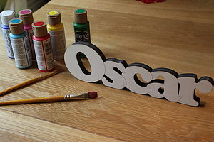 Freestanding Paint Your Own Name Sign